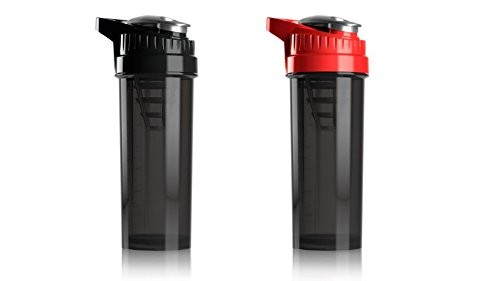 (Cyclone Cup Blender Shaker Bottle: 32 Ounce Shake Mixer Bottles for Protein Shakes a Protein Shaker Bottle, Shake Mixer Bottle - Mixer Cup Set of 2 Black and Red)