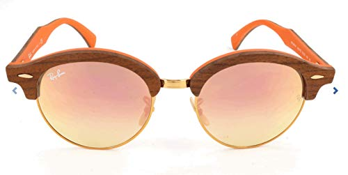 Ray-Ban Clubround Wood RB4246M -12187O Sunglasses Brown Frame ()