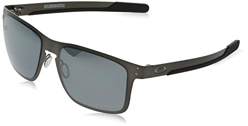 Oakley Holbrook Metal Iridium Square Sunglasses, Matte Gunmetal w/Prizm Black Polarized, 55 mm