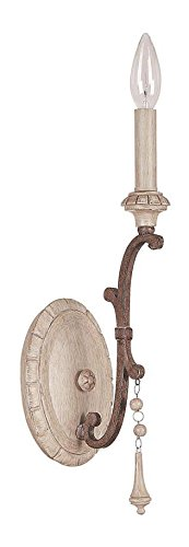 French Oak Chateau 1 Light Candle-Style Wall Sconce - Chateau Rustic Sconce
