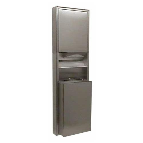 Bobrick - B-3949 - ClassicSeries Paper Towel Dispenser and Waste Receptacle by Bobrick