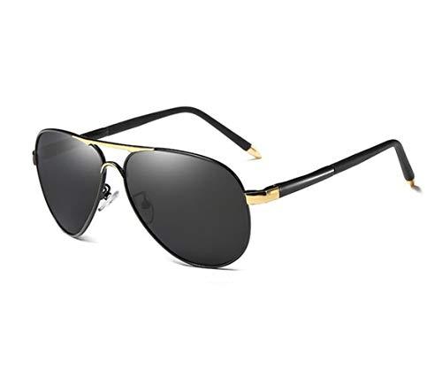 gafas de de de marco Mujeres de Hombres metal Gafas viajar gafas polarizadas sol sol Golden sol Conducción de Moda Huyizhi de de UV400 protección Guay para fR1qwcv