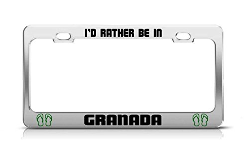 YEX I'D Rather Be In Granada Nicaragua License Plate Frame Car Tag Frame Auto License Plate Holder 12