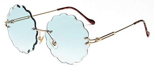 Sunglasses round stylish designer gradient sun glasses women retro flower shaped sunglass,C5 ()