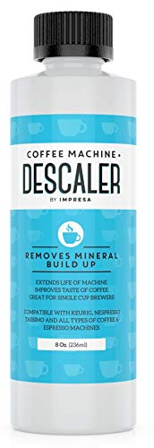Descaler (2 Uses Per Bottle) - Made in the USA - Universal Descaling Solution for Keurig, Nespresso, Delonghi and All Single Use Coffee and Espresso Machines