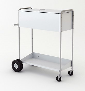 Charnstrom 52-Inch High Boy Long Solid Metal Cart with Locking Top (B272) by Charnstrom