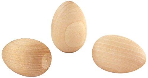 Humpty Dumpty Egg (Hygloss Wooden Eggs,  1.75-Inch x 2.5-Inch, 3 Pcs.)