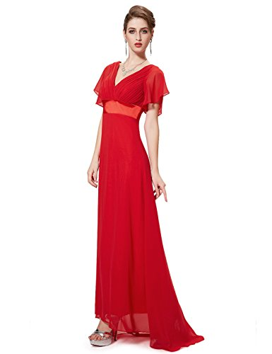 a Donna Ever Pretty Rosso linea ad Vestito zwzIxqPT