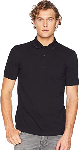 Fred Perry Men's Twin Tipped Shirt Black/Black - Pique Perry Fred Black