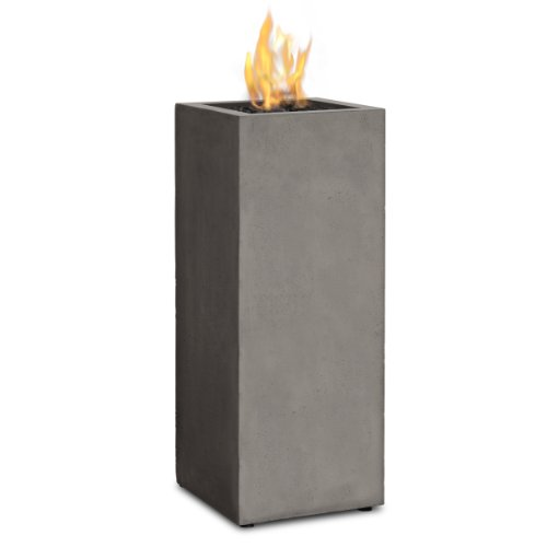 Real Flame T9605LP-GLG Baltic Propane Fire Column, Glacier Gray (Outdoor Fire Column)