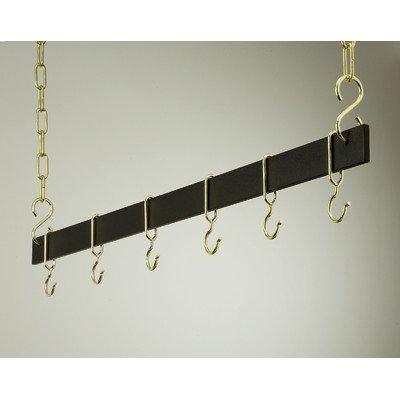 Gourmet Hanging Bar Pot Rack Length and Finish: 36