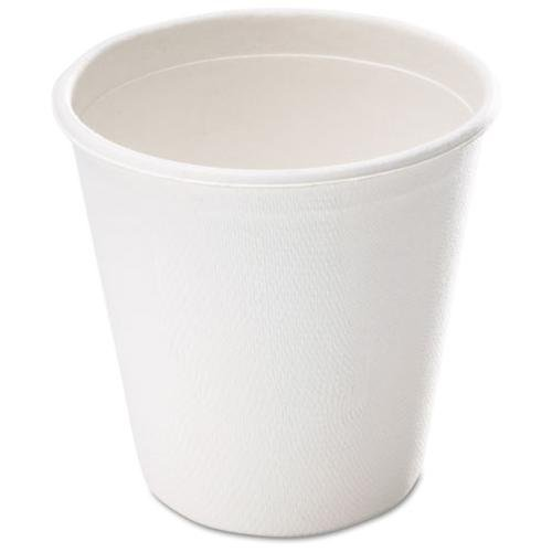 NatureHouse Bagasse Hot Cup, 12 oz., White, 50/Pack SVAL052