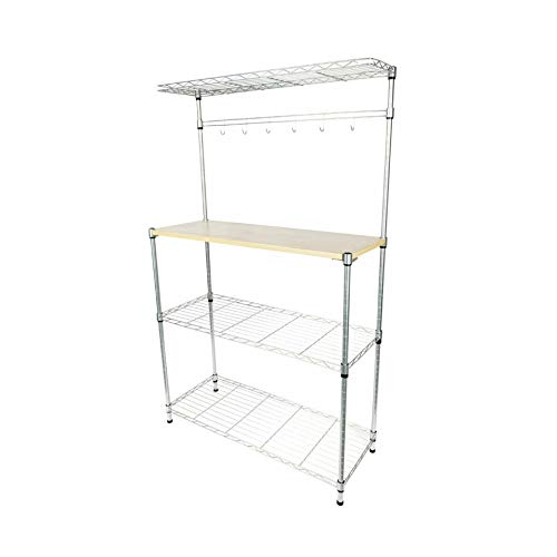 4-Tier Bakers Rack Storage Rack Microwave Oven Stand Island Kitchen Cart, Quick Delivery by $/Reliable
