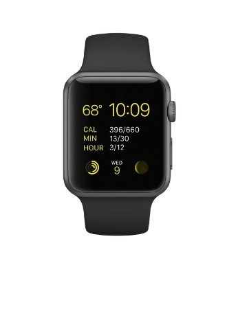 Apple Watch Sport 42mm Space Gray Aluminum Case with Black Band (Certified Refurbished) by Apple