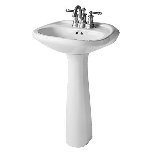- Mansfield Plumbing 233 Verona Pedestal Only Only, White