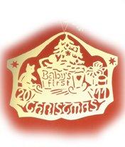 Biedermann & Sons D2011B Brass Commemorative Baby's First Christmas Ornament