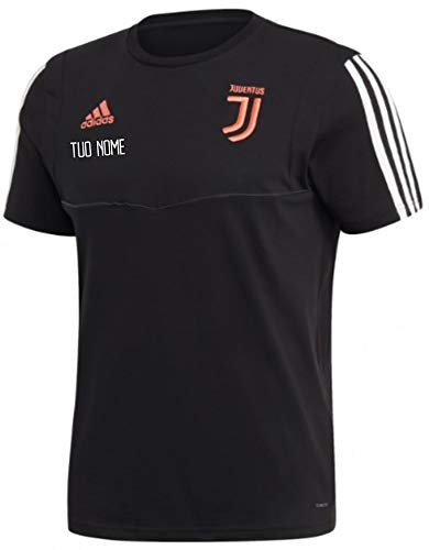 Personalizzata Personalizzabile Vestibilita Slim MAESTRI DEL CALCIO T-Shirt Rappresentanza Nera Bambino F.C Juventus Juve 2019//2020