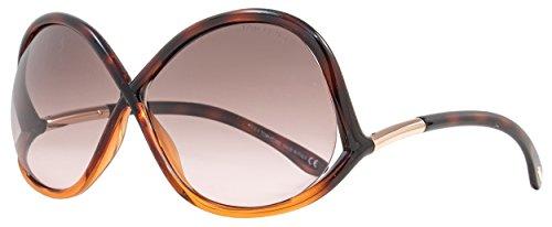 Tom Ford Women's FT0372 Designer Sunglasses, Dark - Tom Ford Butterfly Sunglasses