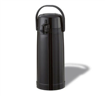 Service Ideas ECA22PBL Eco-Air Push Button Airpot, Glass Vacuum, 2.2 Liter (74.4 oz.), Shiny Black Plastic si-eca22pbl