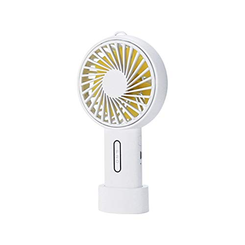 FuriGer Handheld Personal Fan, Portable Mini Hand Fan with USB Rechargeable 3 Speed Adjustable Air Cooler Rotation Cooling Fan, Desk Fan Electric for Outdoor Sport Household Traveling Camping-White by FuriGer (Image #9)