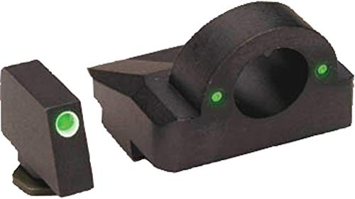 AmeriGlo Ghost Ring Style Night Sights,Green Tritium/White Outline Front GL-5125