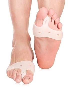 Pedimend, 2 pares de férula de silicona para juanetes, media manga para el dedo del pie, alivia el dolor: Amazon.es: Salud y cuidado personal