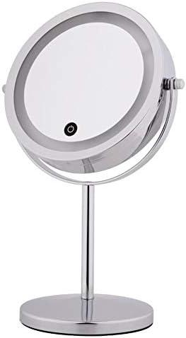 ミラー拡大鏡5倍を作る、イルミネーション化粧鏡付きライトダブルサイドテーブルのために360°回転7インチのledミラー