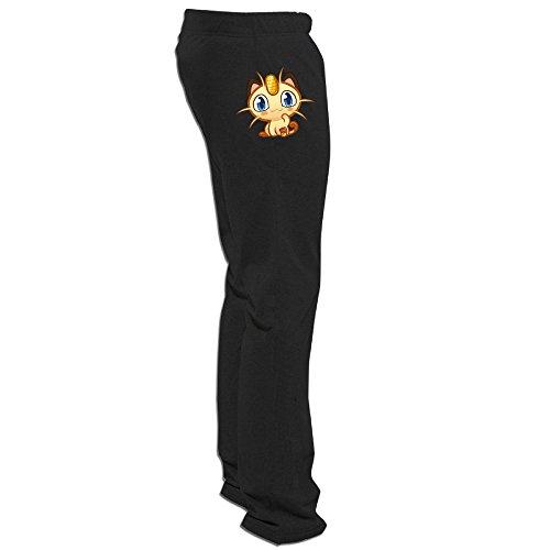 [Texhood MEN'S Cute Meowth Short Sweatpants Size M] (May Costume Pokemon)