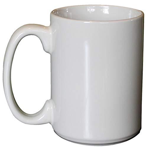 ITI Ceramic Large Handle Coffee Mugs with Pan Scraper, 13 Ounce (6-Pack, Bone White)