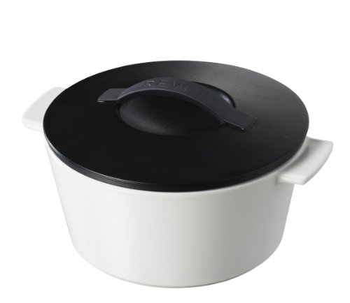Revolution 642298 7-1/2-Inch Round Cocotte with Lid, Satin Black