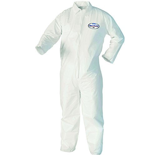 Kleenguard A40 Liquid & Particle Protection Coveralls (37686), Zip Front, White, XL, Convenience Pack of 1 Pair (Protection Suit)