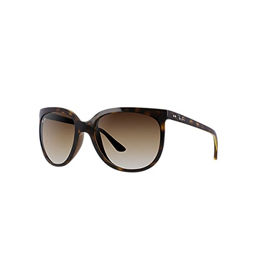 Ray-Ban RB4126 Cats 1000 Cat Eye Sunglasses, Light Tortoise/Brown Gradient, 57 ()