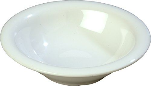 - Carlisle 4303602 Durus Rimmed Melamine Bowl, 13 Oz., White (Pack of 24)