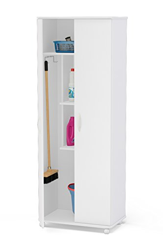 Boahaus White Storage Cabinet Organizer 2 doors & 4 claster by Boahaus