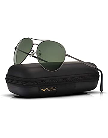 d5175bad7 Aviator Sunglasses Polarized for Men Women - UV 400 with Case 60mm by LUENX