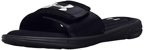 Under Armour Men's Ignite V Slide Sandal, Black (001)/White, 10