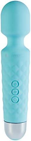 Deluxe Mini Magic Wand Massager Kraftprotz, Silikon Massagegerät mit Akkubetrieb & wasserdicht, blau, von Venize