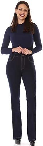 Jeans Boot Cut, Sawary Jeans, Feminino