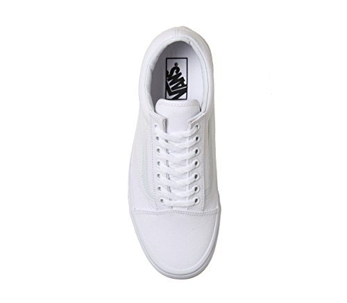 White Baskets Skool Old Unisex Adultes Basses Pour Vans Mono zvCwqPx