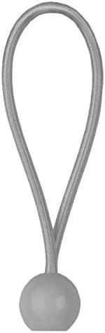 Spanngummi mit Kugel BCB-0520GY-L Gummispannseil Gummispanner Planenspanner 0,5x20cm weiss Bradas 5341
