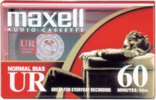 (Maxell UR-60 Audio Cassette- Box of 10)