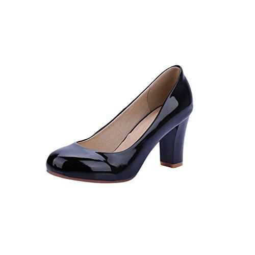 noirs à verni talons en Shoes Mee Escarpins Office apparents cuir qUYz1Xw