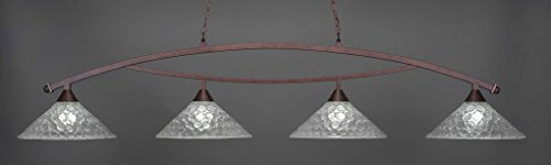 (Toltec Lighting 874-BRZ-411 Bow 4 Light Bar with 16