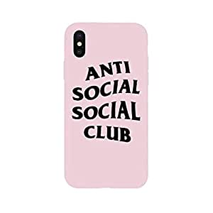 7440a838cbea Amazon.com  New ASSC Anti Social Club Logo Soft Case for iPhone ...