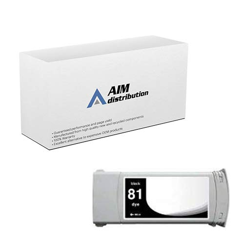 AIM Compatible Replacement for HP DesignJet 5000/5500 Black Dye Inkjet (3/PK-680 ML) (NO. 81) (C5066A) - Generic