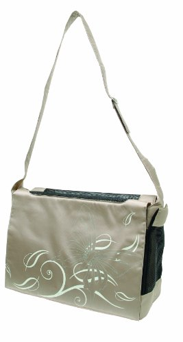 Dogit Style Nylon Messenger Bag, Butterfly Beige