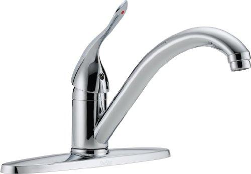 Delta Commercial 100LF-HDF Classic Single Handle Centerset Kitchen Faucet, Chrome by DELTA FAUCET