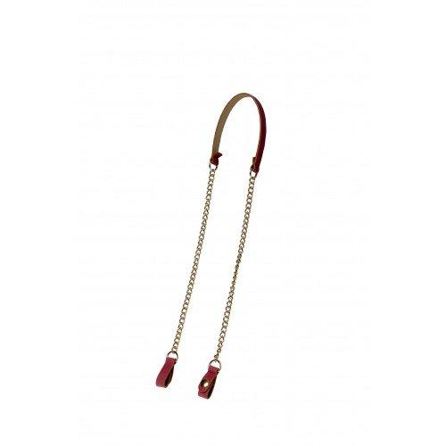 scarpe sportive 91d45 e719f Tracolla con catena O Bag spallina eco pelle rosa: Amazon.it ...