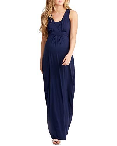 NOM Womens Hollis Maternity Maxi Dress, XS