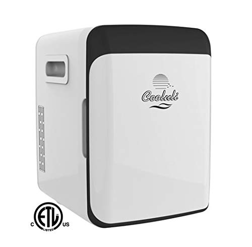 Cooluli CMF10LW Electric Mini Fridge Cooler and Warmer (10 Liter / 12 Can): AC/DC Portable Thermoelectric System (White)